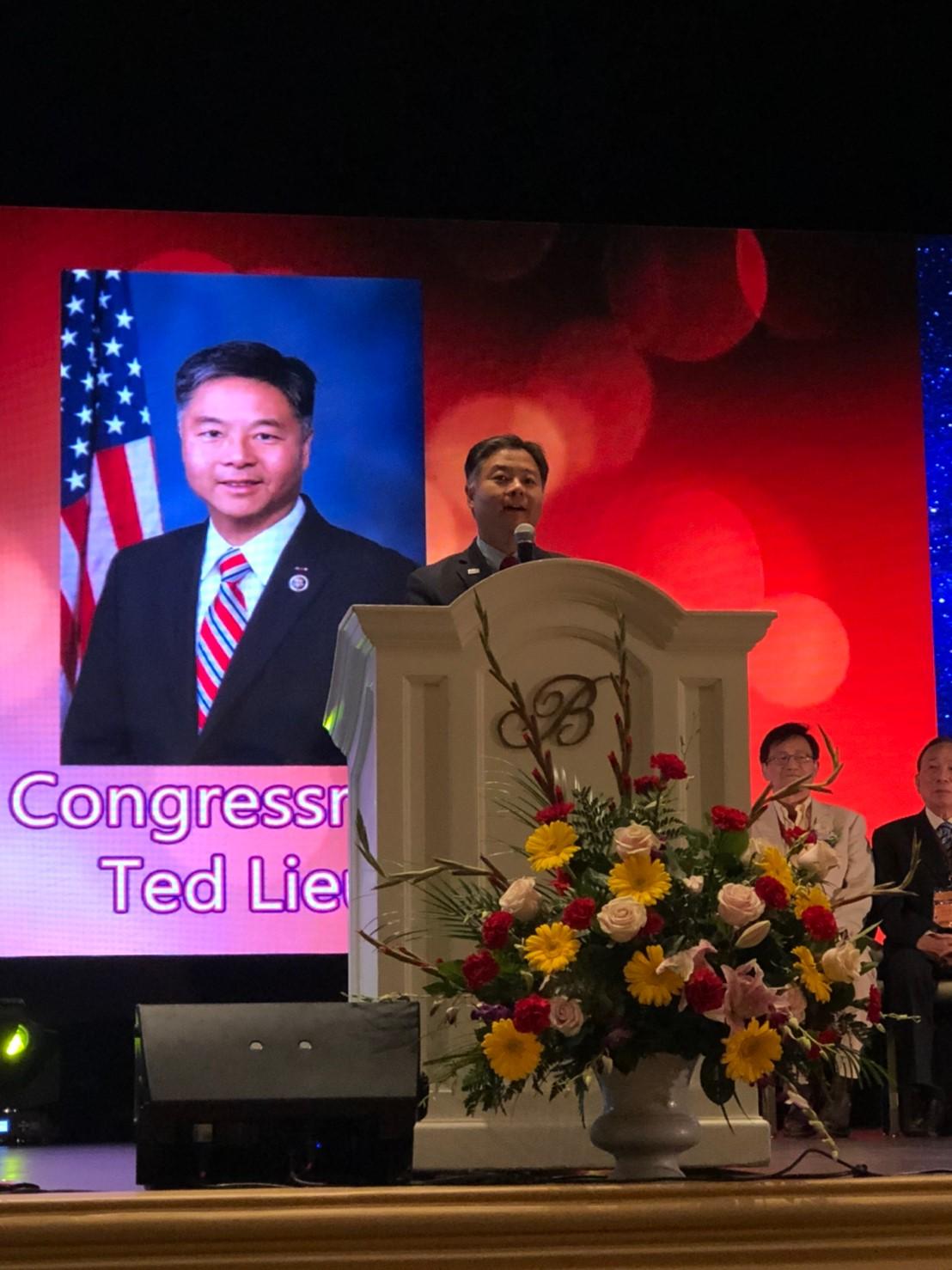 California State Senator- Ted W. Lieu 聯邦眾議員劉雲平